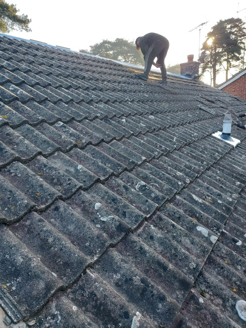 Complete re roof at start of project