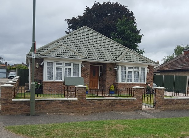 Re-roof on bungalow