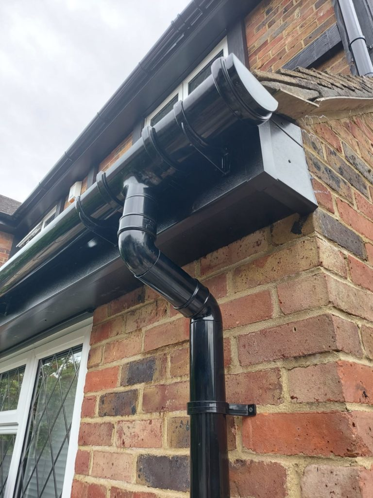 gutters and facia on house