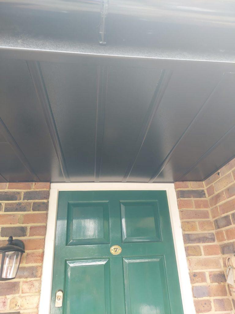 soffit just above entrance door