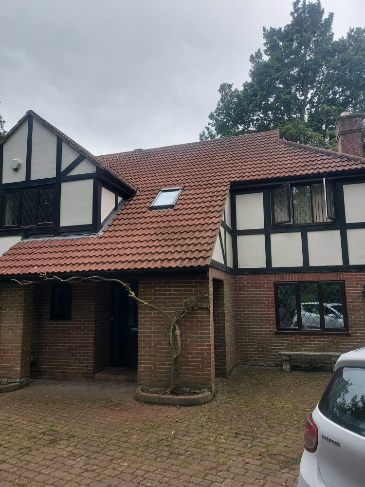 House roof after moss removal by Woking Roofing